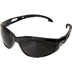 Edge Eyewear Dakura Gloss Black Frame Safety Glasses with Smoke Lenses SW116