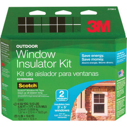 3M 62 In. x 84 In. Outdoor Window Insulation Kit, (2-Pack) 2170W-6