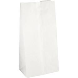 Atlantic Packaging 8 Lb. White Paper Shopping Bag (500-Pack) 001140