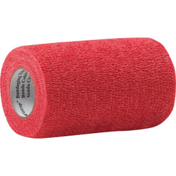 3M Vetrap 4 In. x 5 Yd. Red Bandaging Wrap 1410R