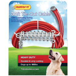 Westminster Pet Ruffin' it Heavy-Duty Large Dog Tie-Out Cable, 30 Ft. 29230