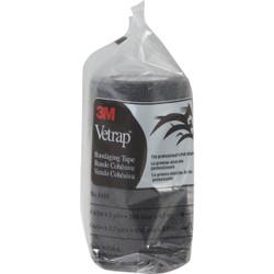 3M Vetrap 4 In. x 5 Yd. Black Bandaging Wrap 1410BK