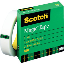 3M Scotch 1 In. x 864 Yd. Magic Transparent Tape Refill 810-72