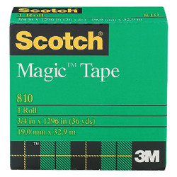 3M Scotch 3/4 In. x 1296 In. Magic Transparent Tape Refill 810-36