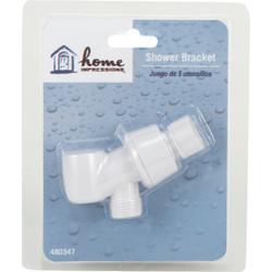 Home Impressions White Plastic Shower Bracket 480347