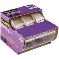 3M Scotch 3/4 In. x 300 In. Gift-Wrap Transparent Tape (3-Pack) 311