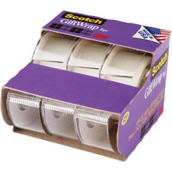 3M Scotch 3/4 In. x 300 In. Gift-Wrap Transparent Tape (3-Pack) 311