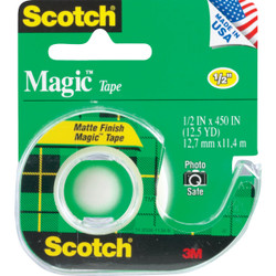 3M Scotch 1/2 In. x 450 In. Magic Transparent Tape 104