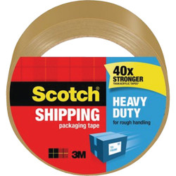 3M Scotch 1.88 In. X 54.6 Yd. High Performance Tan Packaging Tape 3850T