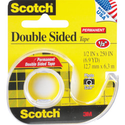 3M Scotch 1/2 In. x 250 In. Double Stick Transparent Tape 136