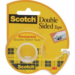 3M Scotch 1/2 In. x 250 In. Double Stick Transparent Tape 136