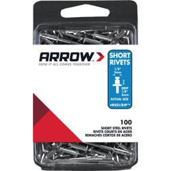 Arrow 1/8 In. x 1/8 In. Steel IP Rivet (100 Count) RSS1/8IP