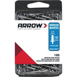 Arrow 1/8 In. x 1/4 In. Steel IP Rivet (100 Count) RMS1/8IP