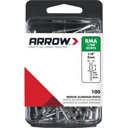 Arrow 1/8 In. x 1/4 In. Aluminum IP Rivet (100 Count) RMA1/8IP