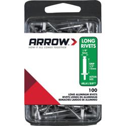 Arrow 1/8 In. x 1/2 In. Aluminum IP Rivet (100 Count) RLA1/8IP