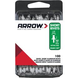 Arrow 1/8 In. x 1/8 In. White Aluminum IP Rivet (100 Count) RSAW1/8IP