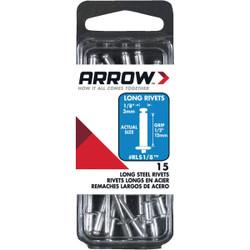 Arrow 1/8 In. x 1/2 In. Steel Rivet (15 Count) RLS1/8