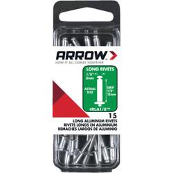 Arrow 1/8 In. x 1/2 In. Aluminum Rivet (15 Count) RLA1/8