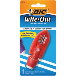 Bic Wite-Out 26.2 Ft. White Mini Correction Tape WOMTP11