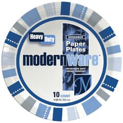 AJM 10-1/4 In. Modern Ware Paper Plate (10 Count) DP10MW032010AGI