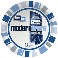 AJM 8.75 In. Modern Ware Paper Plate (15 Count) DP9MW032015AGI