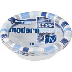 AJM 12 Oz. Modern Ware Paper Bowls (10 Count) DB12MW032010AGI
