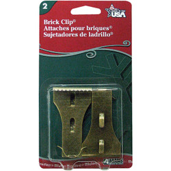 Adams Antique Metal Brick Light Clips (2-Pack) 1450991040