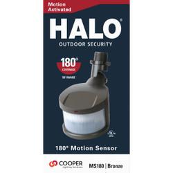All-Pro 180 Deg. 70 Ft. Range Bronze Incandescent Lamp Motion Sensor MS180