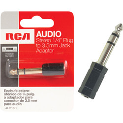 RCA 1/4 In. Plug to 3.5mm Jack Adapter Audio Adapter AH216R