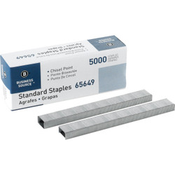 Business Source Standard Chisel Point Staple (5000-Pack) BSN65649