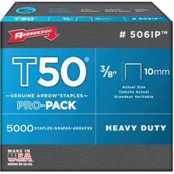 Arrow T50 Pro-Pack Heavy-Duty Staple, 3/8 In. (5000-Pack) 506IP