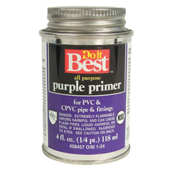 Do it Best 4 Oz. Purple Pipe and Fitting Primer for PVC/CPVC 019054