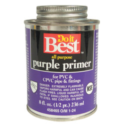 Do it Best 8 Oz. Purple Pipe and Fitting Primer for PVC/CPVC 019066