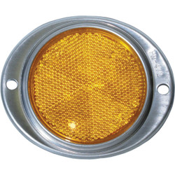 Peterson 3 In. Dia. Amber Oval Reflector V472A