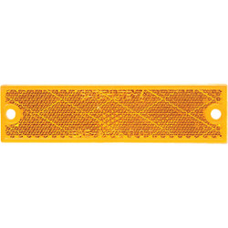 Peterson 1-1/8 In. W. x 4-7/16 In. H. Compact Rectangular Amber Reflector V487A