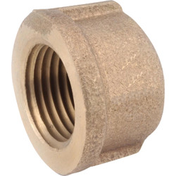 Anderson Metals 1/2 In. Red Brass Threaded Pipe Cap 738108-08