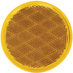 Peterson 3 In. Dia. Round Amber Quick-Mount Reflector V475A