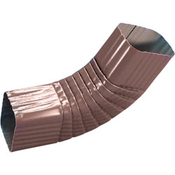 Amerimax 2 x 3 In. Galvanized Brown Side Downspout Elbow 3326519