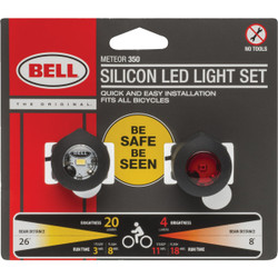 Bell Sports 1 Clear/1 Red LED Bicycle Light Set 7122080