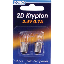 Dorcy 2D Krypton 2.4V 0.7A Flashlight Bulb (2-Pack) 41-1660