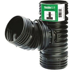 Amerimax Flex-Drain 4 In. Flex-Drain Corrugated Tee 53702
