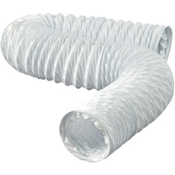 Dundas Jafine 3 In. Dia x 8 Ft. L White Vinyl Flexible Ducting FD38EZW