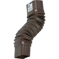 Amerimax 2 x 3 In. Plastic Brown Front or Side Downspout Elbow 3708419