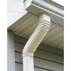 Amerimax 2 x 3 In. Plastic White Front or Side Downspout Elbow 37084