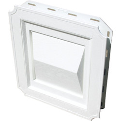 Builder's Best 4 In. White Plastic J-Block Dryer Vent Hood 111716