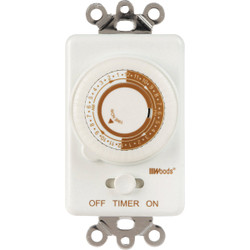 Woods 125V In-Wall 24-Hour Mechanical Timer 59745WD