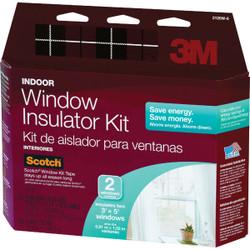 3M Indoor 62 In. x 84 In. Window Insulation Kit, (2-Pack) 2120W-6