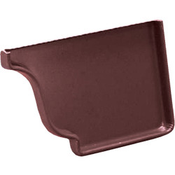Amerimax 5 In. Galvanized Brown Right Gutter End Cap 3320619