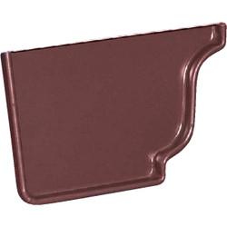 Amerimax 5 In. Galvanized Brown Left Gutter End Cap 3320519