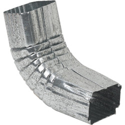 Amerimax 2 x 3 In. Galvanized Galvanized Front Downspout Elbow 29264